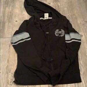 PINK zipper up hoodie